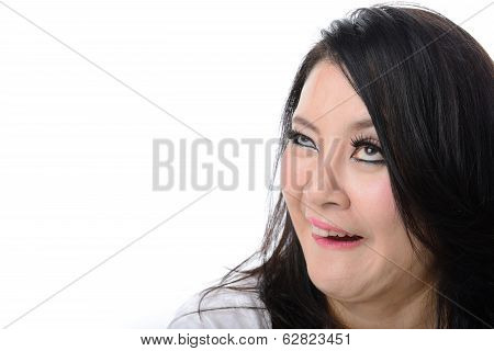 Crazy Woman Isolated On White