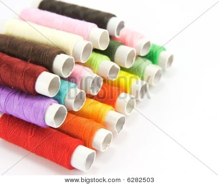 Spools Of Color Thread