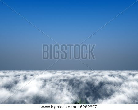View Over Cloudy Sky
