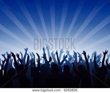 cheering audience