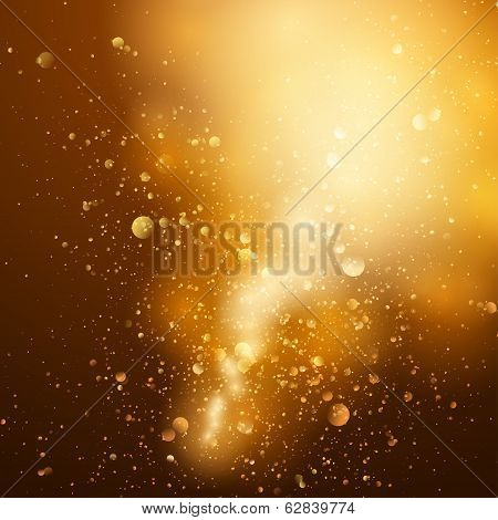 Abstract gold and brown background with space for text.