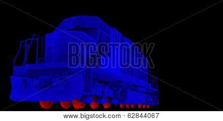 Lokomotiv. Blue hull and red wheels