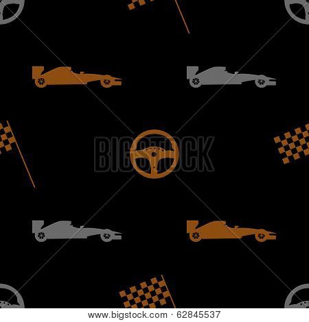 brown automotive icon pattern eps10