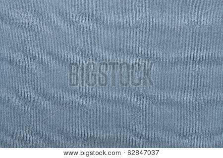 Cotton Fabric Of Gray-blue Color Closeup