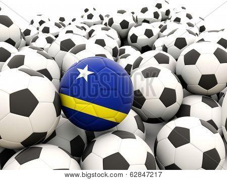 Football With Flag Of Curacao