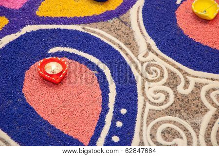 Colorful Indian Kolam