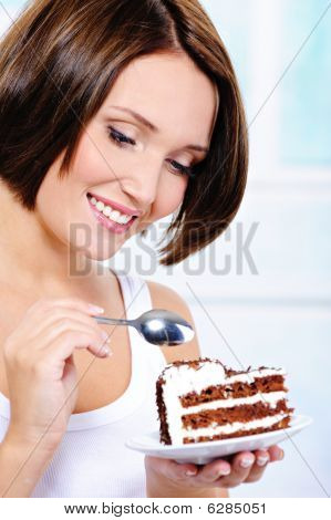 Woman Going To Eat A Sweet Pie