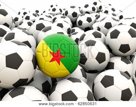 Football With Flag Of French Guiana