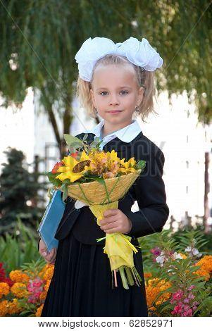 Schoolgirl In Elementary School