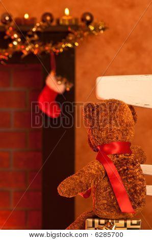 Teddy Waits For Santa