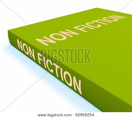 Non Fiction Book Shows Educational Text Or Facts