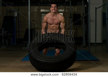 Crossfit Workout By Doing A Tire Flip
