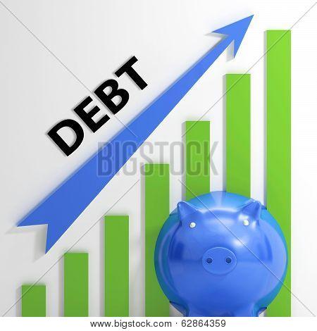 Debt Graph Shows Bills Deficit And Borrowing