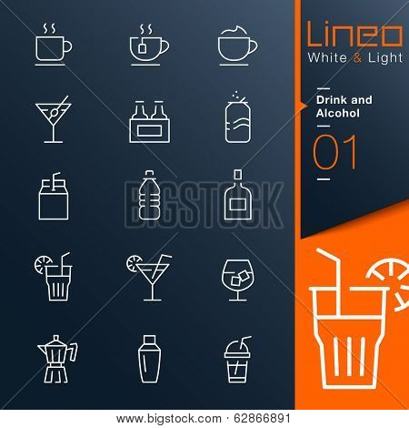 Lineo White & Light - Drink and Alcohol outline icons