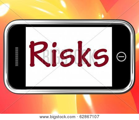 Risks Smartphone Means Investing Online Profit And Loss
