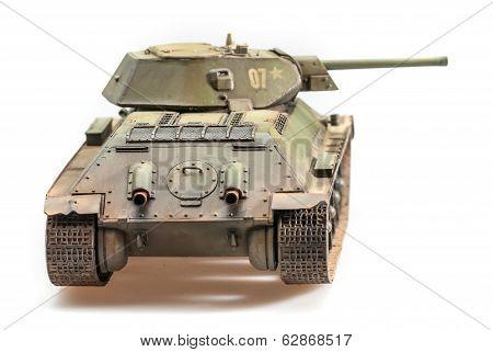 Model of old soviet T-34 tank