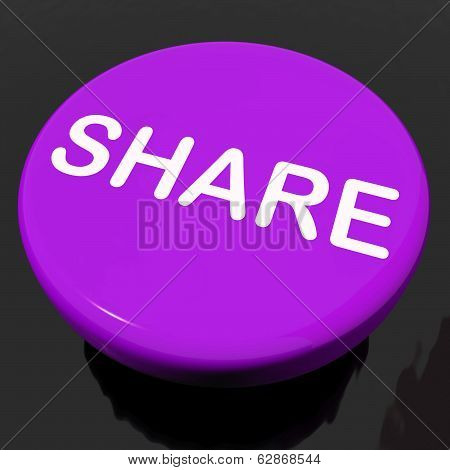 Share Button Shows Sharing Webpage Or Picture Online