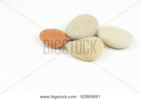 Pile Of Pebbles Isolated Over White