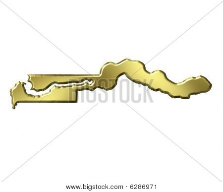 Gambia 3D Golden Map