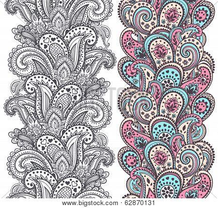 Beautiful Indian paisley ornaments