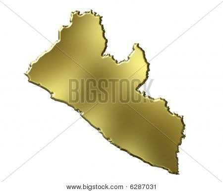 Liberia 3D Golden Map