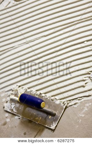 White Thinset And A Trowel