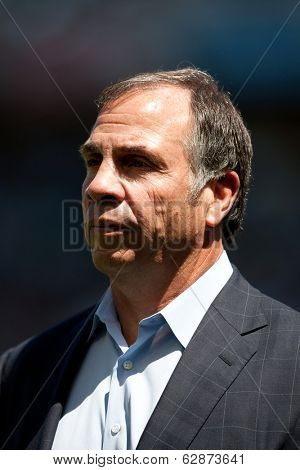 CARSON, CA - APRIL 6: Los Angeles Galaxy head coach Bruce Arena during the MLS game between the Los Angeles Galaxy & Chivas USA on April 6th 2014 at the StubHub Center in Carson, Ca.
