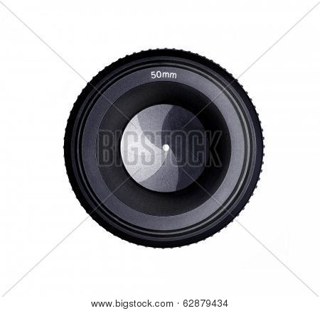 hyperfocus Isolated Image of a 50MM Camera Lens