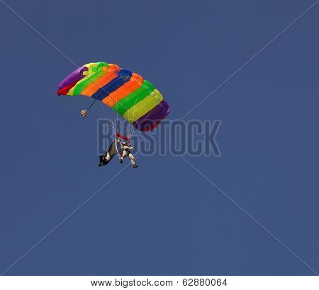 Nice Image of a Para Glider coming down