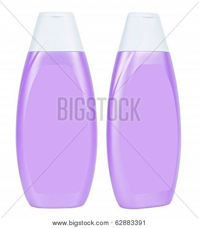 Shampoo Purple Containers Isolated