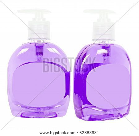 Lilac Bottles With Liquid Soap