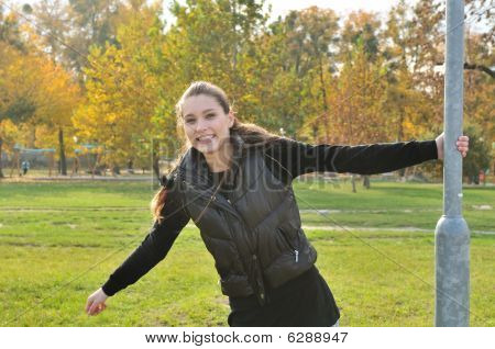 Young Woman Having Fun Outdoors