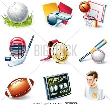 Vector Cartoon Style Icon Set. Teil 33. Sport
