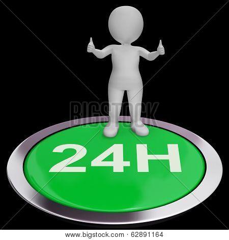Twenty Four Hours Button Means 24H Service
