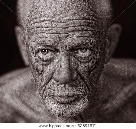 Nice Super sharp Image of a Senior Man