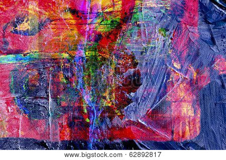 Nice large scale Original Abstract Oil Painting On Canvas