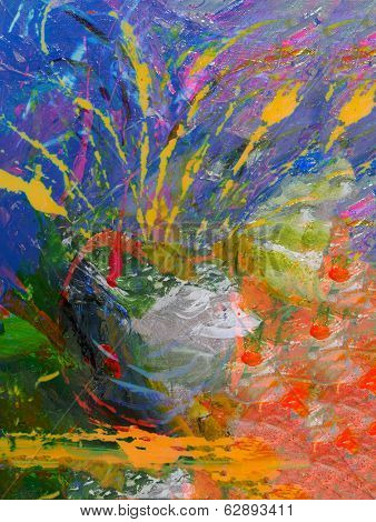 image of a large scale abstract original Oil painting