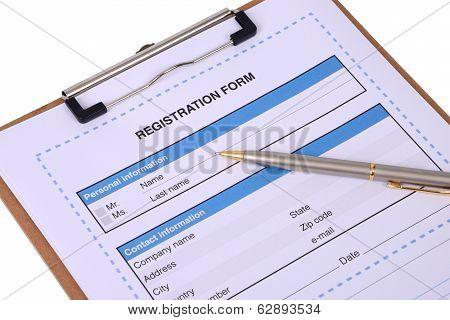 Registration Form.