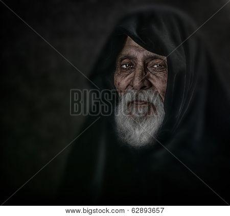 Beautiful Image of a spiritual man in studio