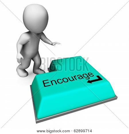 Encourage Key Shows Inspiring Motivation And Reassurance