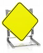 the blank traffic sign