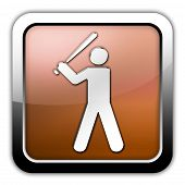 Icon Button Pictogram Baseball