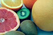 stock photo of pomelo  - fresh fruits - JPG