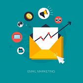 vector email marketing concept illustration poster