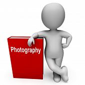 Photography Book And Character Shows Take Pictures Or Photograph