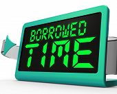 picture of borrower  - Borrowed Time Clock Showing Terminal Illness And Life Expectancy - JPG