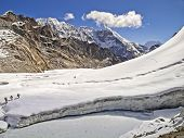 foto of cho-cho  - Cho La Pass in Sagarmatha National Park Himalayas - JPG