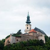 picture of stockade  - Nitra castle in Slovak republic Great Moravian Empire Office - JPG
