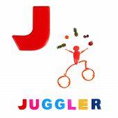 stock photo of letter j  - Illustrated alphabet - JPG