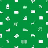 shopping icons pattern eps10